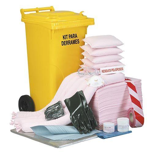 Kits de emergencia para derrames químicos